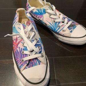 Converse tropical print sneakers